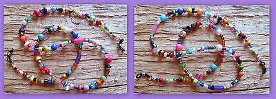 COLORFUL..FUN..FUNKY Chaos ~ Beaded Eyeglass Chain Holder