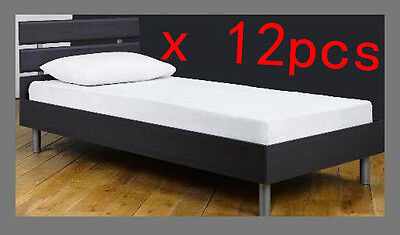 Waterproof Single Bed Fitted Mattress Cover Protector Plastic PVC Sheet x 12 pcs
