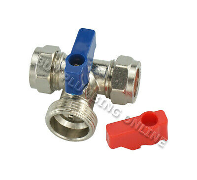 "15mm x 3/4"" Tee Washing machine Valve"