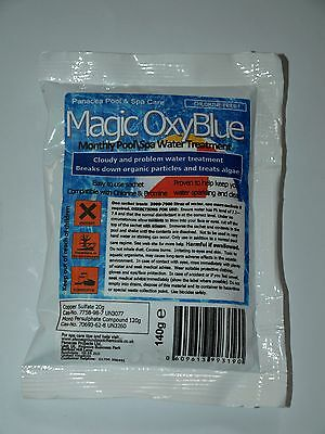 Magic Oxy Blue Shock  Clarifier Pool Treatment 1 or 5  Sachets & 1kg, 2kg tubs
