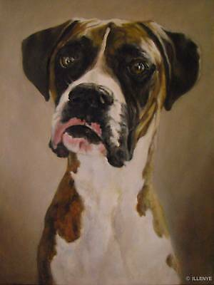 ILLENYE Oil Painting DOG CUSTOM PET PORTRAIT Any Breed Dog or Cat 8x10 in.