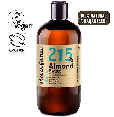Naissance Sweet Almond Oil 500ml Ideal for Massage, Skincare & Haircare
