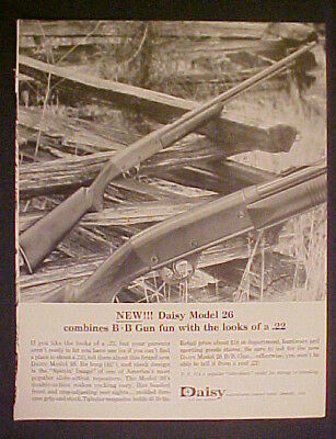 1964 Daisy BB Gun Model 26 Slide Action Repeaters Rifle~Looks like 22~Kid Toy Ad