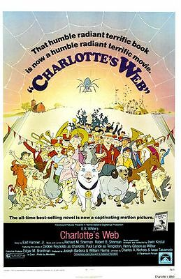 CHARLOTTE'S WEB - 1973 - orig 27x41 movie poster DEBBIE REYNOLDS, PAUL LYNDE