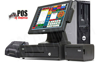 One Station Premium Restaurant Bar Pizza POS System with Amigo Software NEW