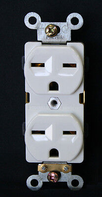 5PC. Industrial Grade Heavy Duty Receptacle 15A /250V Outlet 6-15R Plug 61571-W