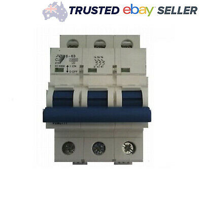 3 Pole Circuit Breaker 10 KA  20A, 32A, 40A, 50A, 60 Amp for Switchboard