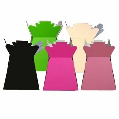 10 x Florist Aqua Boxes - Living Vases - Hand Tie Boxes - Assorted Colours.