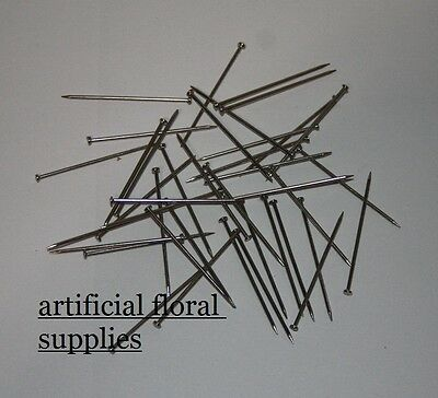 Steel Pins 100g (approx 400) or box of 500g Dressmaking Floristry Crafts sewing