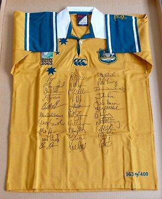 Wallabies  Rugby World Cup  Team Signed Jersey