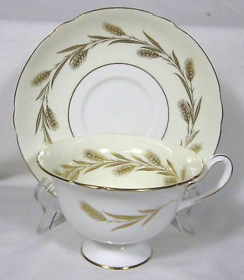 "ELEGANT FOOTED SHELLEY ""GOLDEN HARVEST"" CUP & SAUCER"