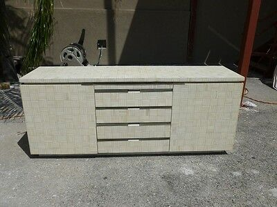 Sumptuous High Style 70's Tessellated Bone Sideboard