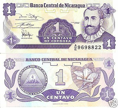 NICARAGUA 1 Centavo Banknote World Money Currency BILL Central America Note p167