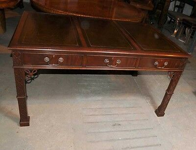 Victorian Chippendale Gothic Desk Writing Table Mahogany Furniture