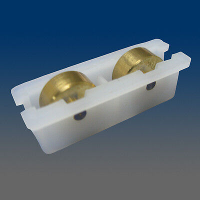 Pack of 6 Window Sash Rollers, Window Roller, With Brass Wheels, 1132