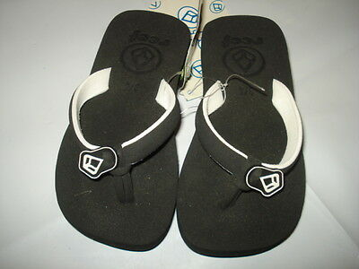 NEW REEF GIRL TODDLER KID FLIP FLOP SANDALS THONGS black/white size 3/4 code #33