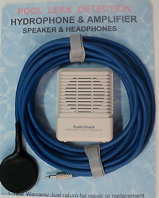 hydrophone, pool leak detection water resistant pool mics.UNDER GROUND LEAKS+AMP