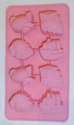 Silicone Baking Mould Pink - Cars & Stuff - Party & Lunchbox Treats - Brand New