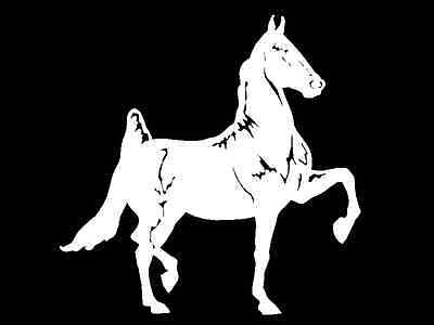 Horse Decal American Saddle bred horses car window trailer vinyl sticker graphic