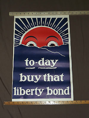 Wwi World War 1 To-Day Buy That Liberty Bond Poster