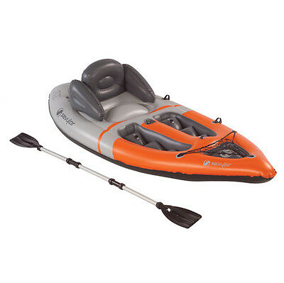 Sevylor Sit On Top Kayak (1 Person) Inflatable Boat With Oars Paddles