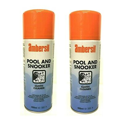 Pool and Snooker Tables Stain Remover Cloth / Vallet Cleaner- Spray on and Brush