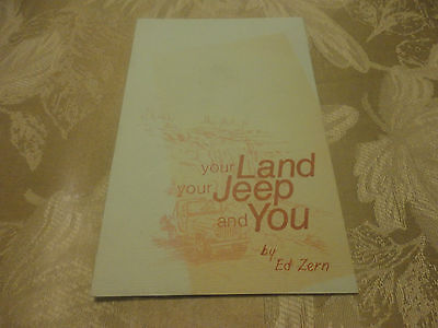 Amazing 1972 Jeep Your Land Your Jeep And You Booklet Brochure