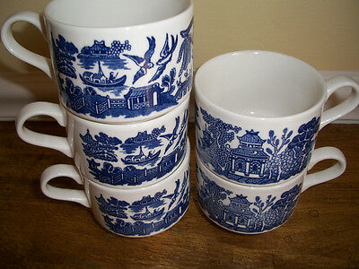 Cups-Blue Willow- (7) marked Churchill England  MINT COND.$6.00 ea.