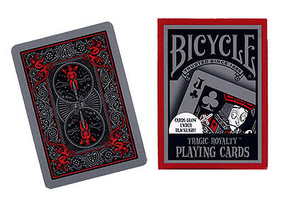 TRAGIC ROYALTY Bicycle Playing Cards - UV Glow in dark deck - Collector's POKER