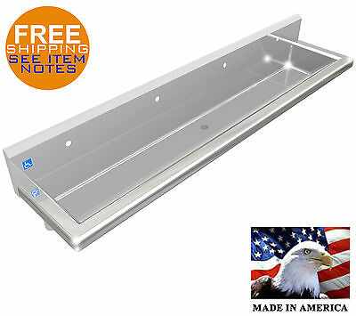 """Ada Surgeon's Hand Sink 4 Users 96"""" 2"""" Welded Drain, Body Only, Made In America"""