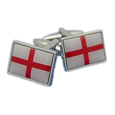 England St George Cross Flag Cufflinks in gift box BNIB White & Red  PSN082
