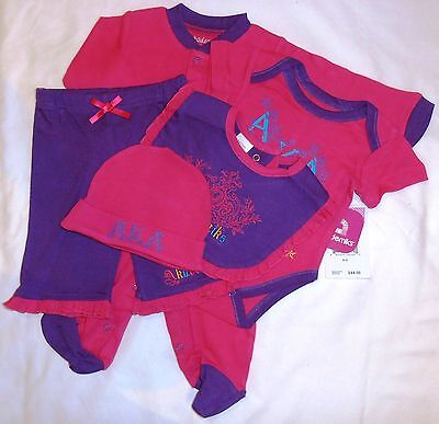 """Gift Set for Baby ~ """"Beetroot"""" ~ 5 Pieces ~ Soft Cotton Size 0-3M ~ Brand New"""