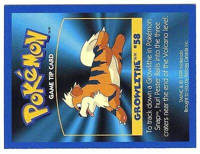 Promo Pokemon Fr/English Kellog Bilingual Card 1 By Side #58 Growlithe