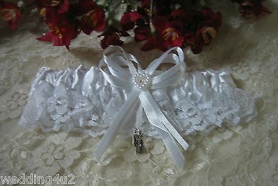 Wedding Party Ceremony Bridal ~Silver Bride & Groom~ Charm Toss  White Last One