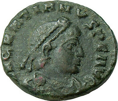Gratian AE Roman Emperor in military dress Ancient Authentic Roman Coin