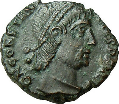 Constantius II AE VOT XX MVLT XXX within a Wreath Authentic Roman Coin Rare