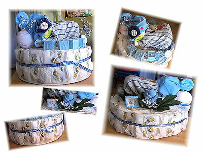 "Custom YOU PICK??? ""Name/Color/Theme"" Baby Shower Boys Diaper Baby Cake!"