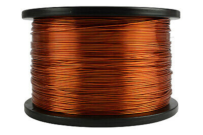 18 AWG Gauge Enameled Copper Magnet Wire 200C 5lb 995ft Magnetic Coil Winding