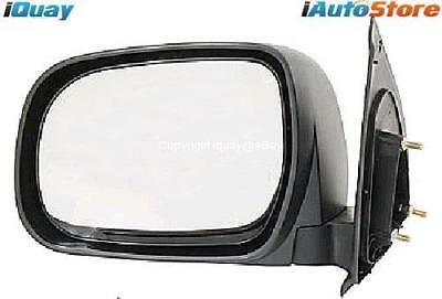 Toyota Hilux '05-'15 Ute BLACK Manual Side Door Mirror LEFT LH LHS NEW