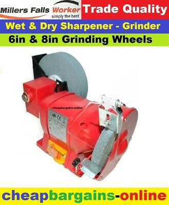 "6"" 8"" Wet & Dry Sharpener Bench Grinder Power Tool Knife Chisel Drill Sharpener"