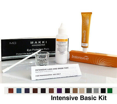 Professional Intensive Eyelash & Eyebrow Dye Tint Basic Tinting Kit 14 Colours