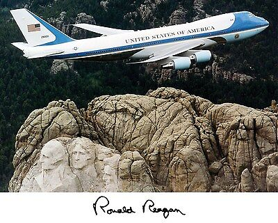 President Ronald Reagan Air Force One Autograph 11 x 14 Photo Picture Poster #f3