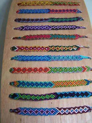 Friendship Bracelet Wrist Ankle New Ethically Made In Guatemala Pack Of Ten (10)
