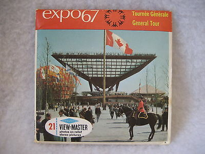 vintage  SAWYER'S View Master EXPO 67 MONTREAL CANADA A071 french GENERAL TOUR !