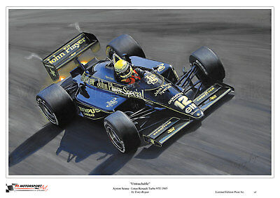 Ayrton Senna Lotus Renault Turbo 97T 1985 Limited Edition Art Print