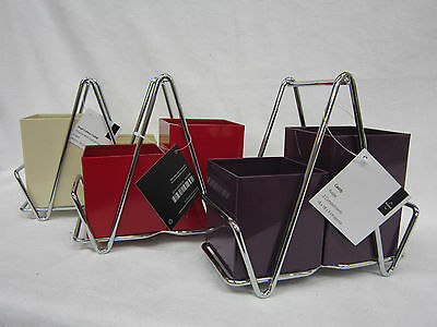 Premier Cutlery Caddy Available In Red, Cream And Purple