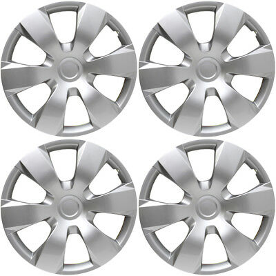 "4 Pc Set of 16"" Inch Silver Hub Caps Full Lug Skin Rim Cover for OEM Steel Wheel"