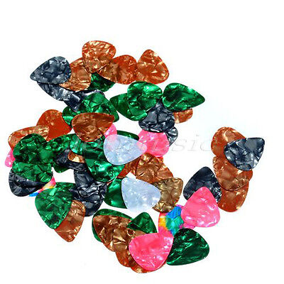 200 Pcs Acoustic Electric Guitar Picks Assorted Various Celluloid Plectrums