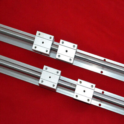 Support Linear Bearing Rail  Sbr16-350Mm 2 Rails +4 Blocks For Cnc