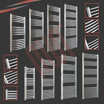 HUGE SALE Chrome Straight & Curved Heated Towel Rail Warmers Bathroom Radiators